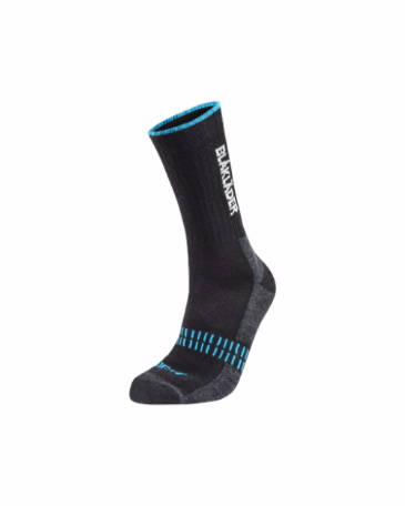 Blaklader 2191 Light Sock (Black/Neon Blue)